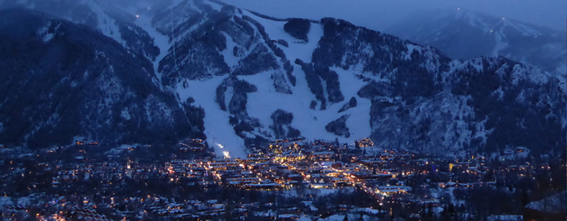 Aspen at Night- Ski Runs - Large | Limelight Hotels | Aspen