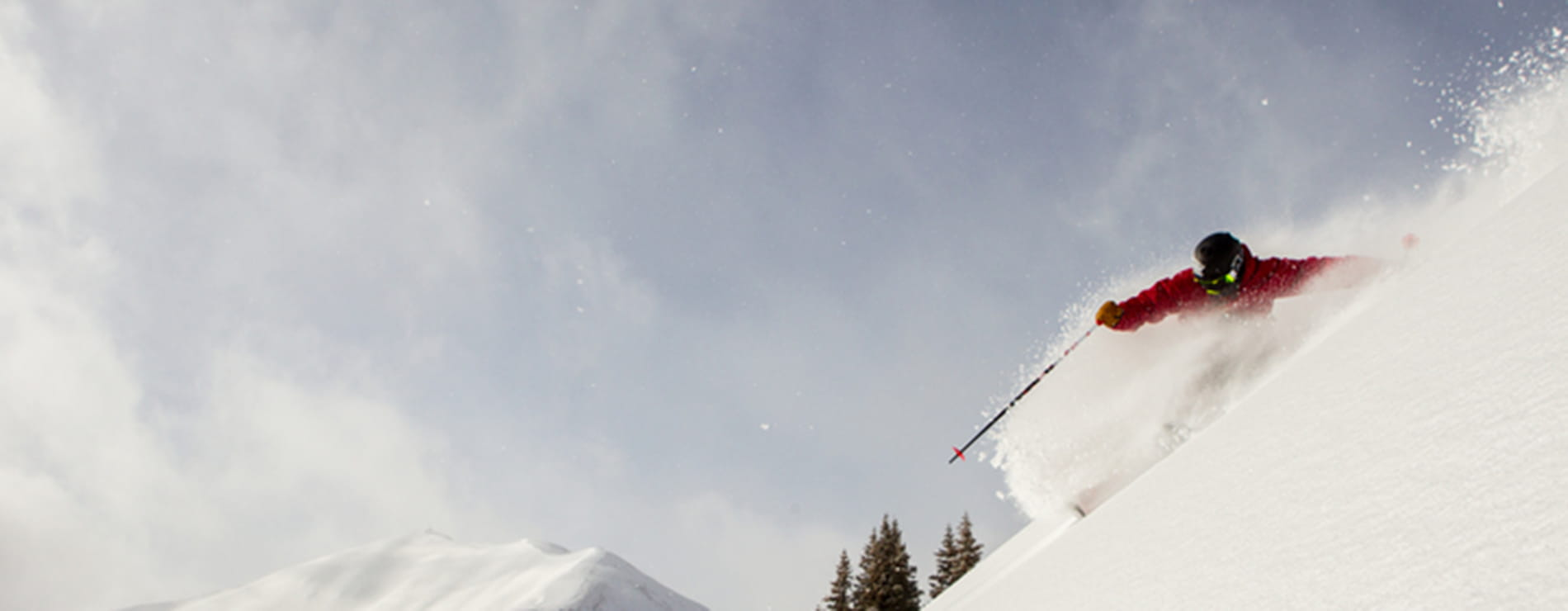 Skier in Powder - Large | Limelight Hotels | Aspen