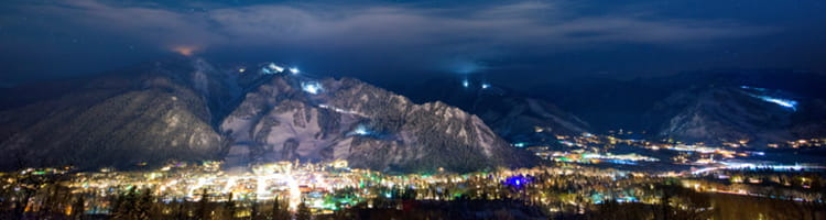 Aspen at Night - Mountain View | Limelight Hotels | Aspen