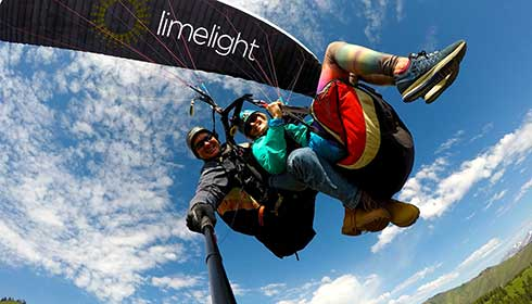 Limelight Ketchum paragliding